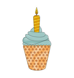Ice cream candle vector