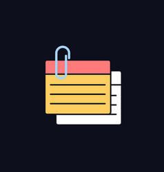 Index card rgb color icon for dark theme vector