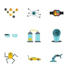 Latest electronic devices icons set flat style vector