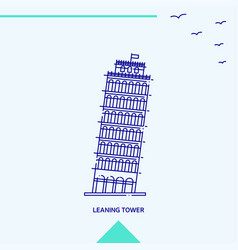 leaning tower skyline vector image
