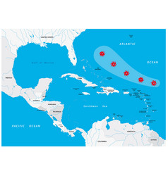 map a fictional hurricane in america vector image