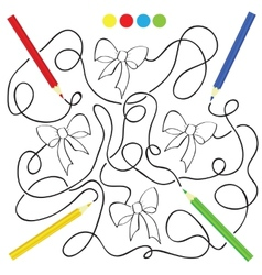 maze game and coloring activity page for kids vector image