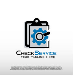 Mechanic logo with check services concept repair vector