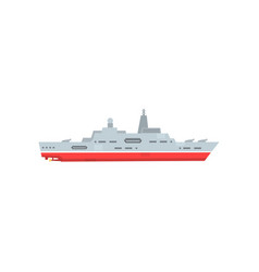 military steam ship with artillery and radar vector image