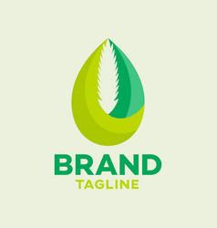 Modern hemp oil logo vector