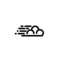 mono line cloud logo vector image