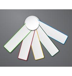Numbered palette list design vector image