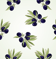 Olive pattern vector