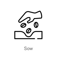 Outline sow icon isolated black simple line vector