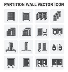 Partition icon vector