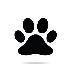 paw black icon vector image