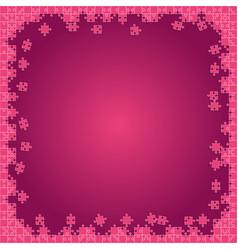 Pink transparent puzzles pieces - jigsaw vector