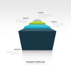 Pyramid infographic template design vector