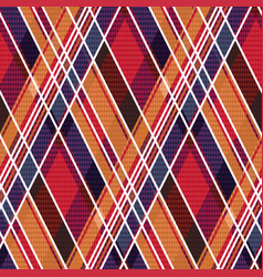 rhombic tartan seamless texture mainly in warm vector image