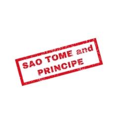 Sao Tome And Principe Rubber Stamp vector