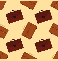 seamless pattern with travel bag with luggage vector image