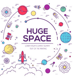Set of huge universe infographic vector