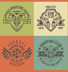 Shooting range emblems in vintage style vector