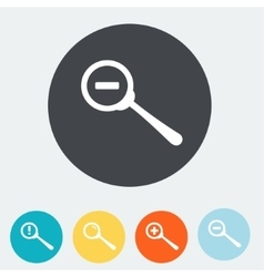 Simple web icon in Zoom out icon Flat vector