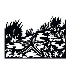 Starfish wildlife stencils - silhouettes vector