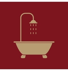The shower icon bathroom symbol flat vector
