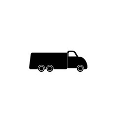 truck icon black on white vector image