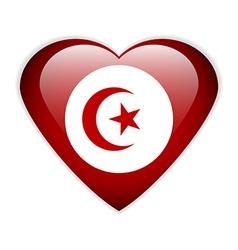 Tunisia flag button vector