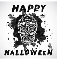 Vintage Halloween skull vector