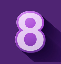 Volume icons number eight vector