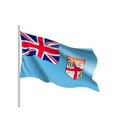 waving flag of fiji vector image