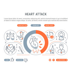website banner and landing page heart attack vector image