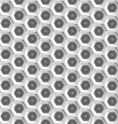 White hexagon pattern background vector