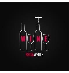 wine glass bottle ornate background vector image