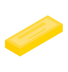 Yellow chocolate icon isometric style vector