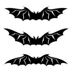 bats collection on white background vector image vector image