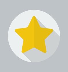 Christmas flat icon star vector
