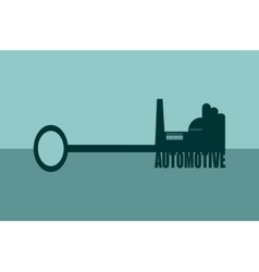 concept of a key automotive vector image