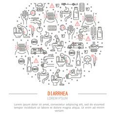 diarrhea medicine vector image