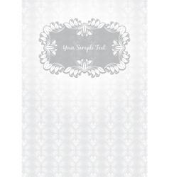 floral pattern frame template vector image vector image