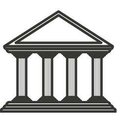 monochrome color of greek temple parthenon vector image