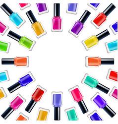 nail polish frame vector image
