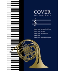 piano with french horn vector image vector image