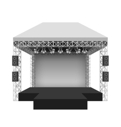 Podium concert stage vector image vector image