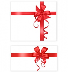 two red bows and ribbons vector image vector image