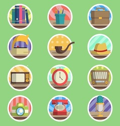 Vintage Item Flat Icon vector image vector image