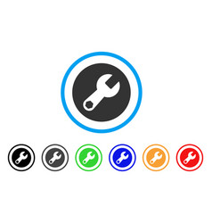 wrench rounded icon vector image vector image