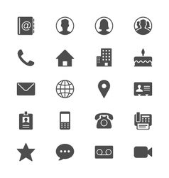 Contact flat icons vector image vector image
