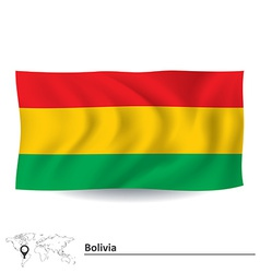 Flag of Bolivia vector image vector image