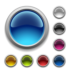 glossy buttons vector image vector image