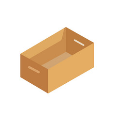 isometric cardboard box packaging isolated vector image